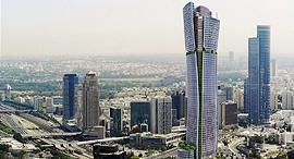 פרויקט בין ערים המגדל הכי גבוה בישראל, הדמיה: אמנון שוורץ אדריכלים