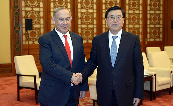 "בנימין נתניהו נשיא סין שי ג'ינפינג, צילום: חיים צח / לע""מ"