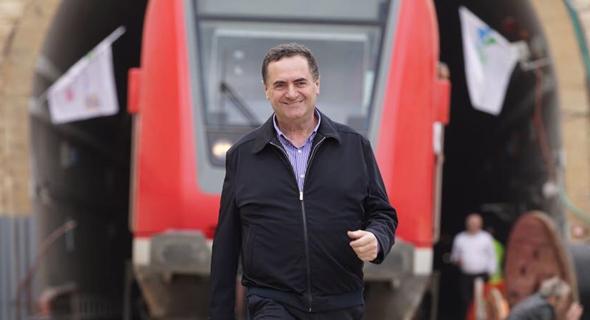 ישראל כץ קו הרכבת כרמיאל עכו , צילום: משרד התחבורה