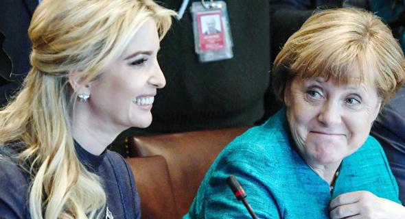 איוונקה טראמפ קנצלרית גרמניה אנגלה מרקל, צילום: אי פי אי