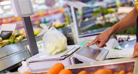 סופרמרקט משקל דלפק דיגיטלי בחנות, צילום: שאטרסטוק