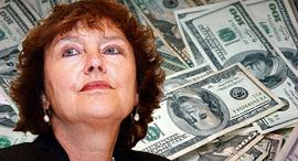 קרנית פלוג נגידת בנק ישראל דולר דולרים, צילום: בלומברג