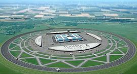 מסלול המראה עגול נמל תעופה 1, הדמיה: endlessrunway-project
