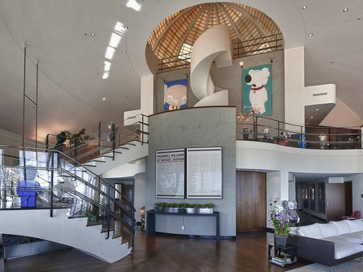 סלון הבית של פארל וויליאמס בפלורידה