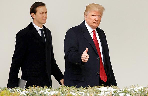 דונלד טראמפ ו ג'ארד קושנר, צילום: רויטרס