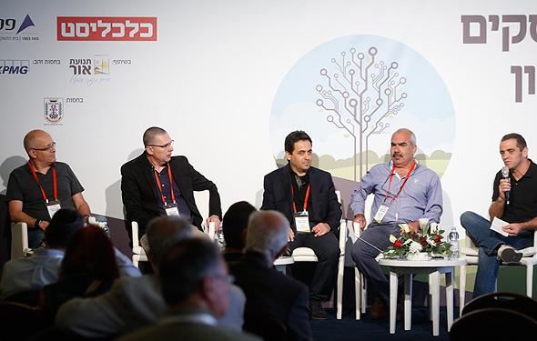 מימין מאיר אורבך, סאמי סעדי, שי לוי, אריק מימרן ויורם יעקבי
