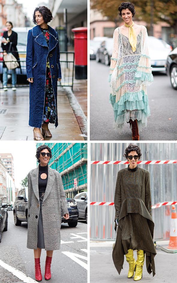 סוול בארבע תלבושות שונות ב־2016. מאה אלף עוקבים שלומדים את הסגנון שלה, צילומים: גטי אימג