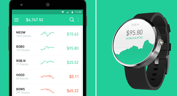 Stock trading app Robinhood