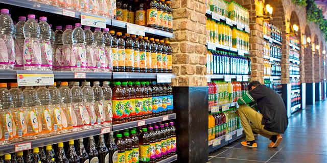 מדף משקעות בסופרמרקט, צילום: מיקי נעם אלון