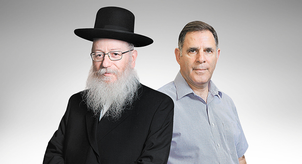 """מימין מנכ""""ל אסם איציק צאיג ושר הבריאות יעקב ליצמן, צילום: עמית שעל"""