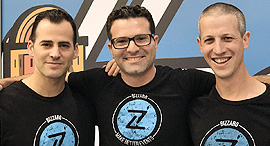 Bizzabo's co-founders Alon Alroy (left), Eran Ben-Shushan and Boaz Katz. Photo: PR