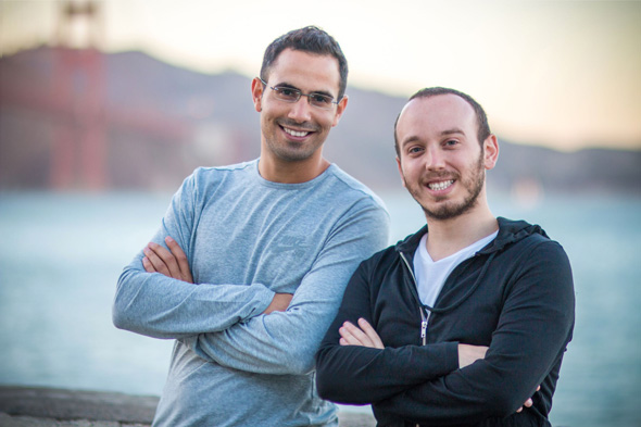 Spotinst's CEO Amiram Shachar (left) and chief architct Liran Polak. Photo: PR