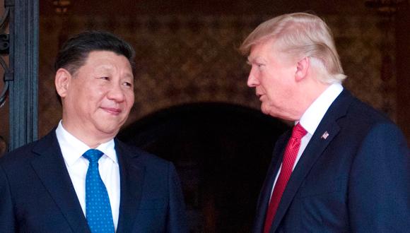 הנשיאים דונלד טראמפ ושי ג'ינפינג