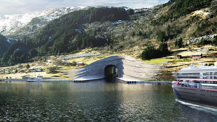 הדמיית הכניסה למנהרה, צילום: Norwegian Coastal Administration