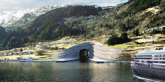 המנהרה הראשונה בעולם לספינות תיבנה בנורבגיה