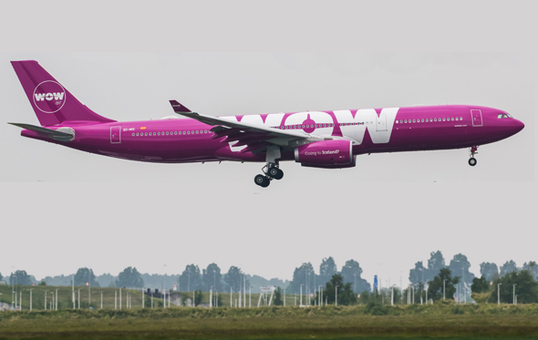 WOW Air plane. Photo: PR