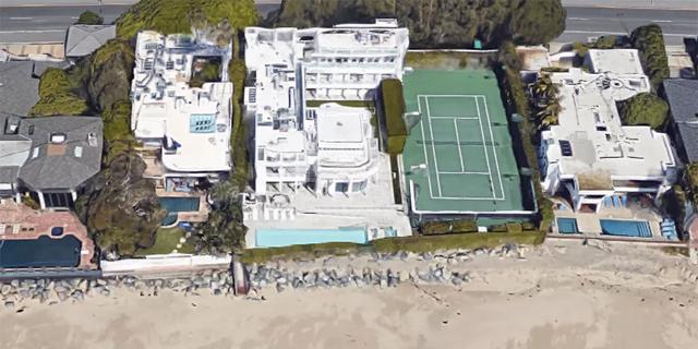 הבית החדש של לארי אליסון, צילום: Google Maps
