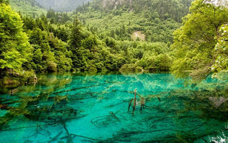 אגם חמשת הפרחים, הפארק הלאומי ג