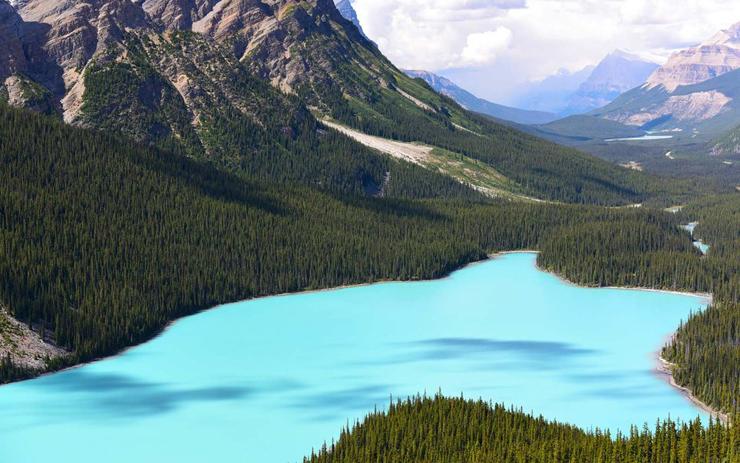 אגם פייטו, אלברטה, קנדה, צילום: גטי אימג