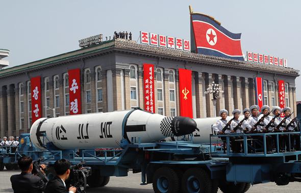 מפגן צבאי בצפון קוריאה