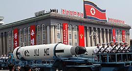 """צפון קוריאה מפגן צבאי מתיחות עם ארה""""ב 1, צילום: רויטרס"""