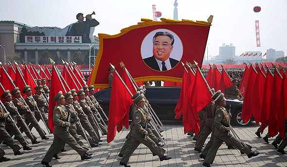מפגן כוח בצפון קוריאה, צילום: איי פי