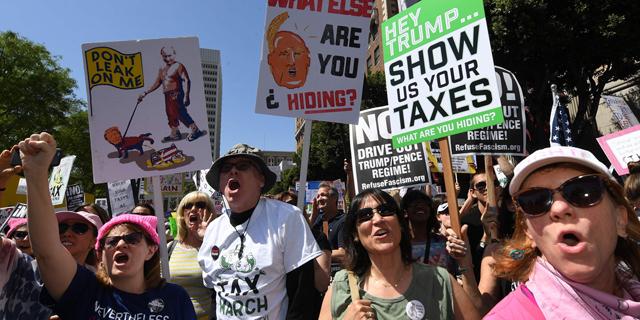 הפגנות מחאה נגד דונלד טראמפ, צילום: איי אף פי