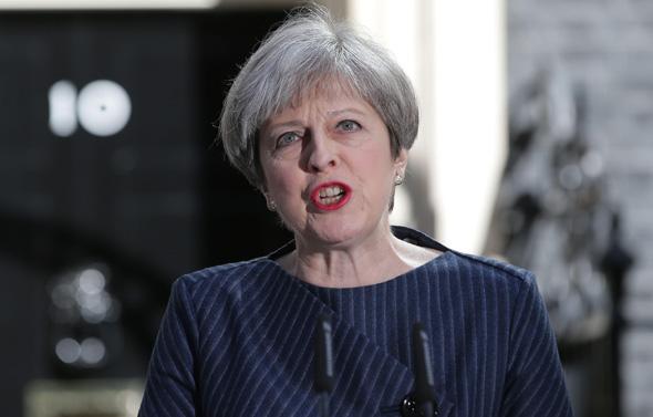 תרזה מיי, ראשת ממשלת בריטניה, בהכרזתה היום