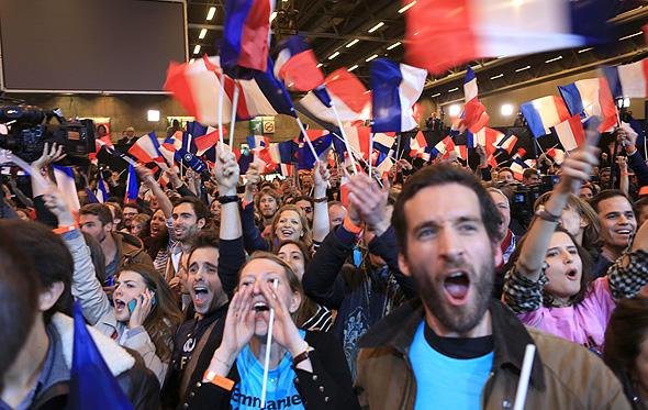 בחירות ב צרפת מטה עמנואל מאקרון עמנואל מקרון, צילום: אם סי טי