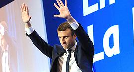 נשיא צרפת עמנואל מקרון, צילום: אם סי טי