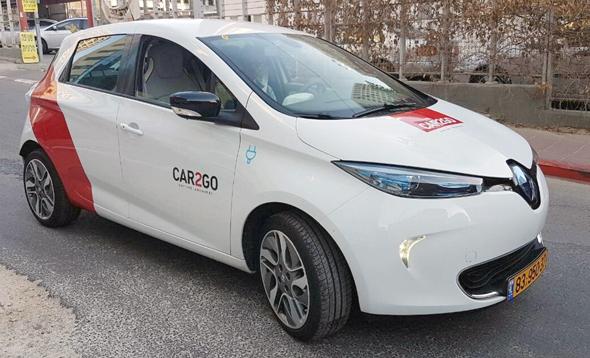 רנו זואי חשמלית של CAR2GO. החברה תספק 160 מכוניות לפרויקט בצפון
