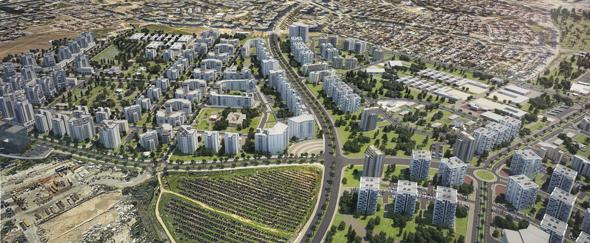 הדמיית השכונות החדשות באשקלון. 30% מהדירות יהיו דירות קטנות