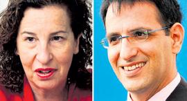 """מימין: מנכ""""ל IDE אבשלום פלבר ו ענת לוין מכלל ביטוח, צילום: סיון פרג', עמית שעל"""