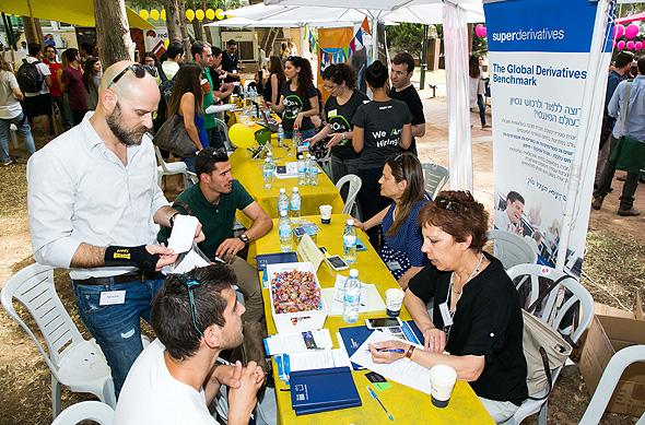 A tech job fair in Israel. Photo: Ofer Amram
