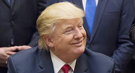 """נשיא ארה""""ב דונלד טראמפ 25.4.17, צילום: בלומברג"""