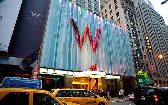 מלון W בניו יורק. המחירים נעים בין 83 סנט ל-2 דולר לדקה, צילום:Tripadvisor