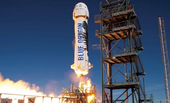 בלו אוריג'ין חלל ג'ף בזוס, צילום: space.com
