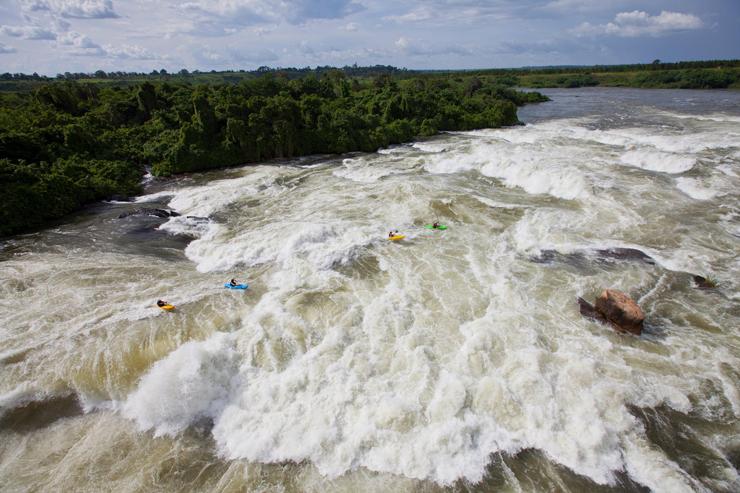 מפלי אינגה בנהר הקונגו  שבקונגו. מקום אחד לפני אחרון, צילום: Red Bull Content Pool