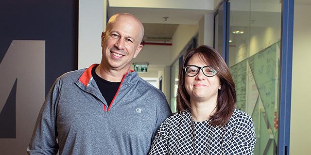 """קרן לוי, מנכ""""לית פיוניר ויובל טל מייסד החברה, צילום: עמית שעל"""