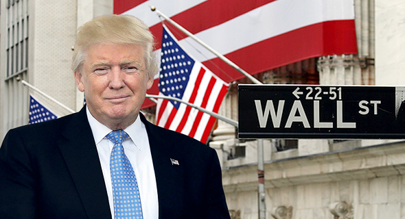 דונלד טראמפ וול סטריט ניו יורק, צילום: שאטרסטוק, אם סי טי
