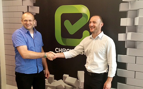 Checkmarx CEO Emmanuel Benzaquen (left) and Founder Maty Siman. Photo: PR