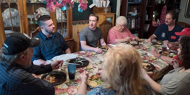 צוקרברג מבקר אצל משפחה באוהיו, צילום: פייסבוק