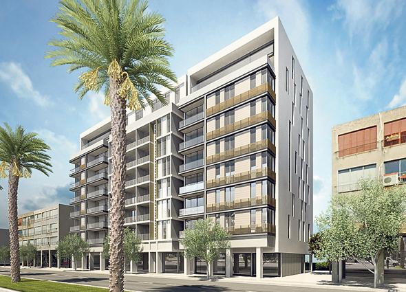 הדמיית הפרויקט. יכלול 56 דירות