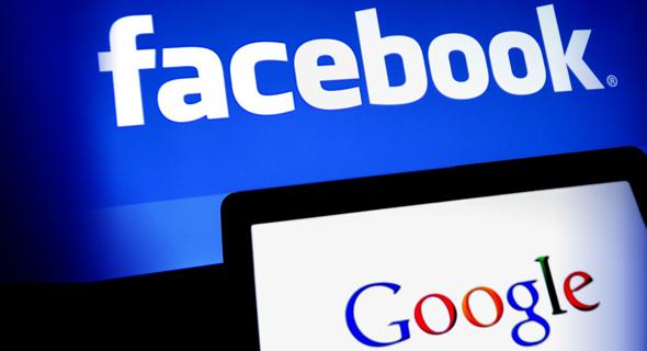 מטה פייסבוק קליפורניה שלט לייק גוגל, צילום: בלומברג