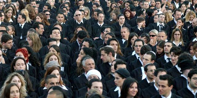 טקס הסמכה של עורכי דין, צילום: אלכס קולומויסקי