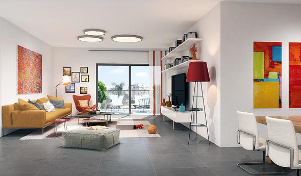 הדמיית דירה בשכירות מוזלת ברמת השרון