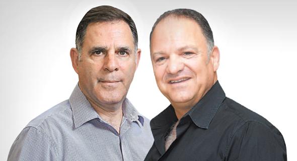 """מימין: יו""""ר ומייסד מחלבות גד עזרא כהן ומנכ""""ל אסם איציק צאיג"""