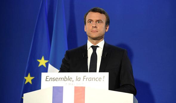 עמנואל מקרון נאום ניצחון בחירות 2017 לנשיאות צרפת, צילום: רויטרס