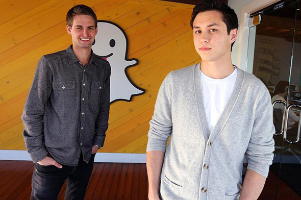 Snap co-founders Evan Spiegel and Bobby Murphy
