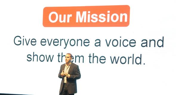 """סמנכ""""ל יוטיוב מנואל ברונשטיין בכנס TAU בישראל, צילום: קרן-אור גרינברג"""